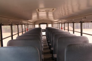 Inside IC bus school_bus charter_bus