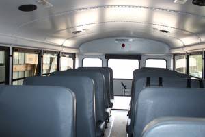 Inside C2 bus school_bus charter_bus