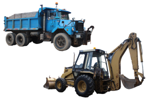 Dump truck & Backhoe/Loader equipment