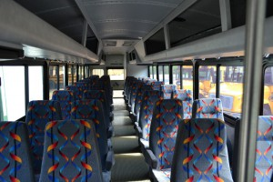 Inside Purple Bus charter_bus