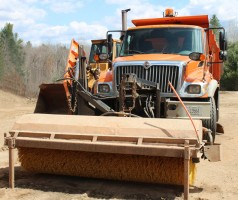 Sweeper & truck equipment plow
